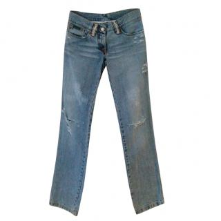 Dolce & Gabbana Swarovski-Embellished Jeans