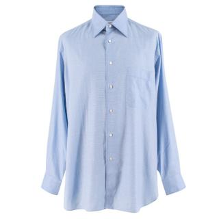 Zilli Light Blue Checked Print Shirt