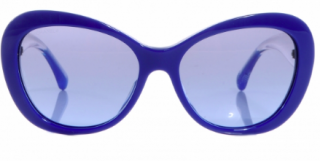 Chanel oversized blue sunglasses