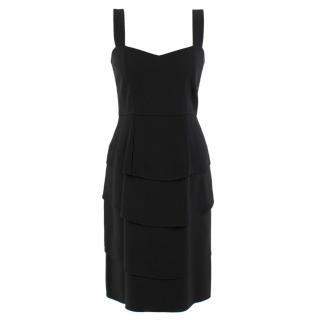 Temperley Black Tiered-Ruffle Dress