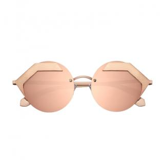 Bulgari Serpenti gold-mirrored sunglasses