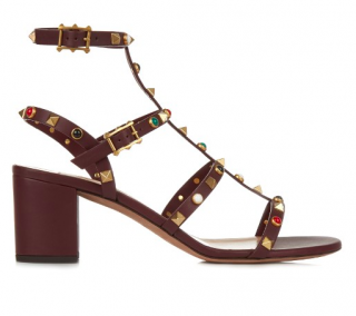 Valentino Rolling Rockstud Leather Sandals