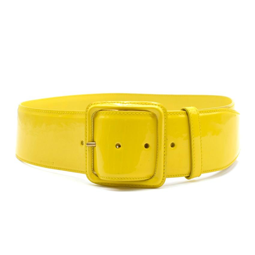 Miu Miu Yellow Patent Leather Belt