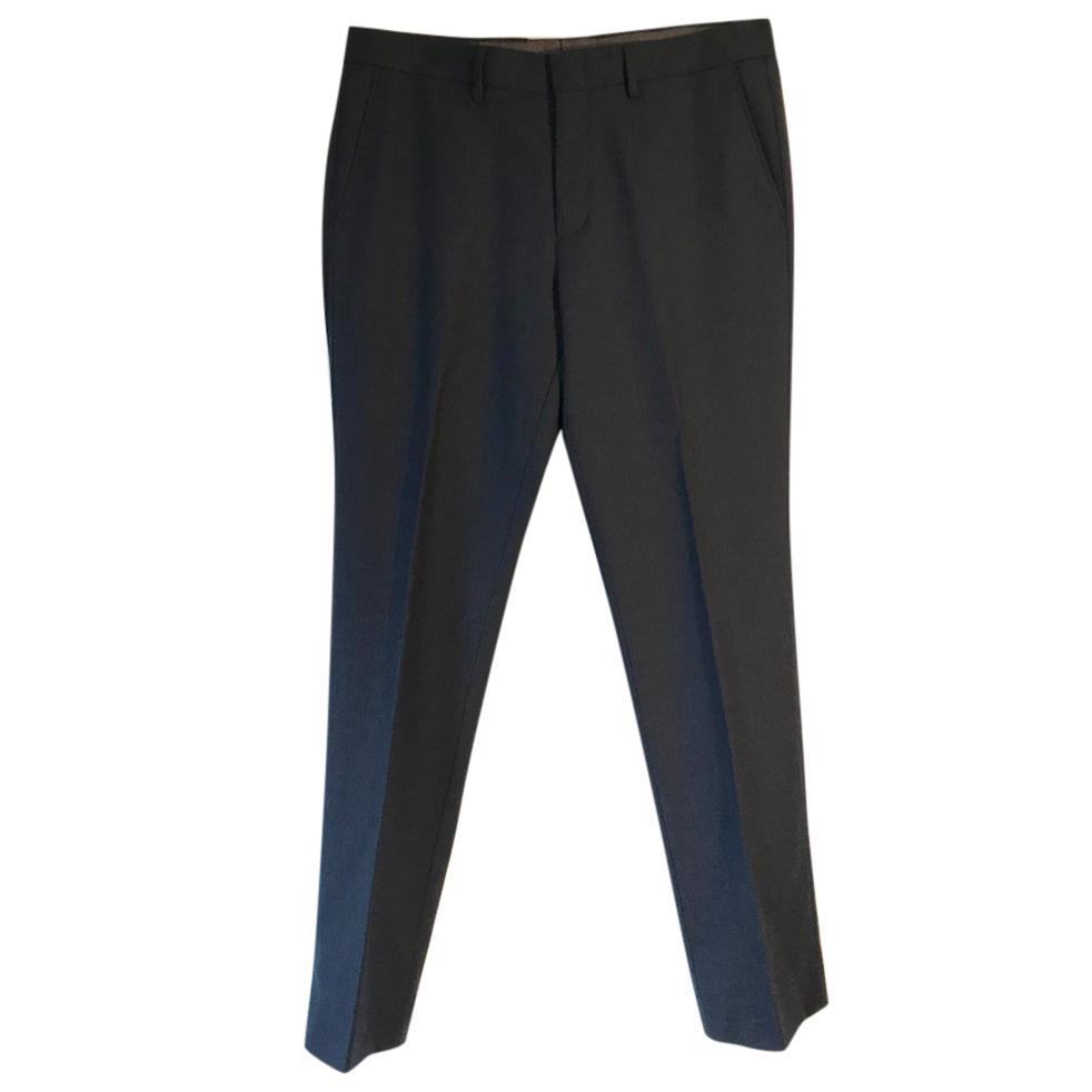 J Crew Bowery slim-fit navy wool trousers