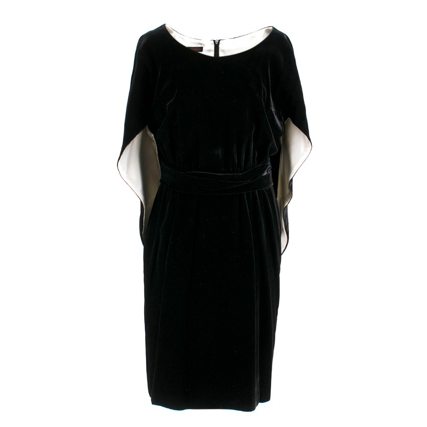 Escada Black Velvet Dress
