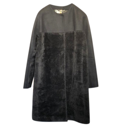 Etro Black Alpaca Coat