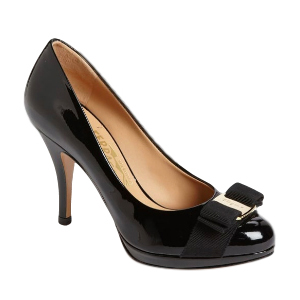 Salvatore Ferragamo Tina patent leather pumps