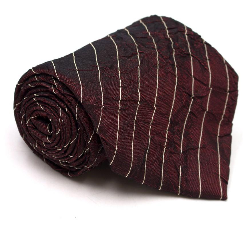 c71b47fbd4 Boss By Hugo Boss Burgundy Textured Striped Tie