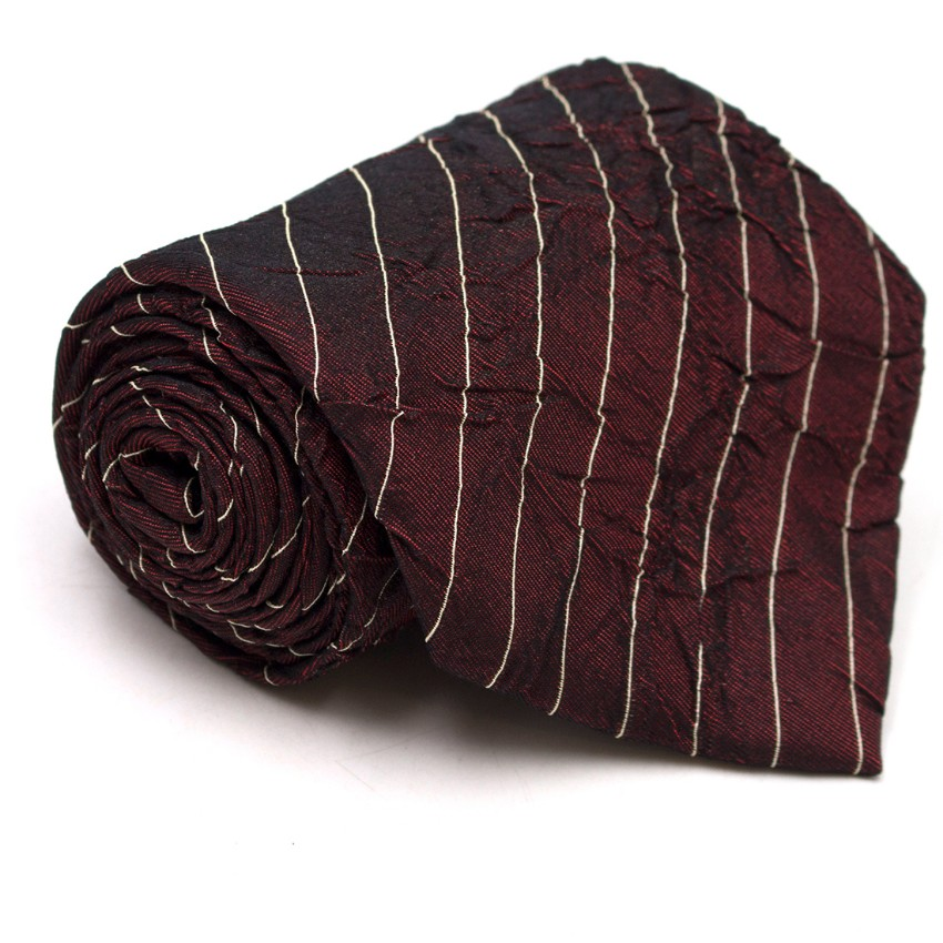 Boss by Hugo Boss Burgundy Textured Striped Tie