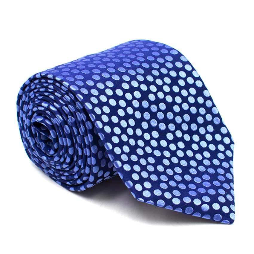 Eton Blue Spotted Silk Tie
