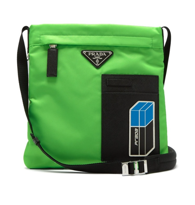 46f3eff7a006 Prada Logo Plaque Nylon Crossbody Bag | HEWI London