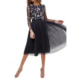 Needle & Thread Ditsy Scatter Tulle Midi Dress