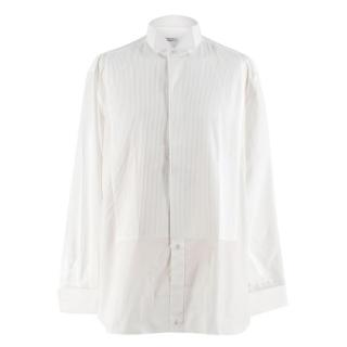 Zilli White Pleated Cotton Shirt