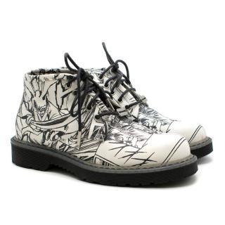 McQ Alexander McQueen 'martin' Comic Print Lace-up Boots