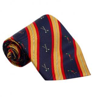 Rene Chagal Golf-Print Silk Tie