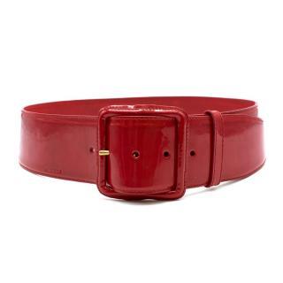 Miu Miu Red Patent Leather Belt