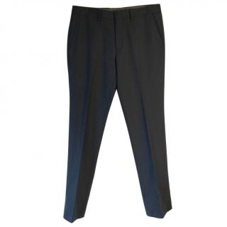 J Crew Bowery slim-fit navy wool trousers