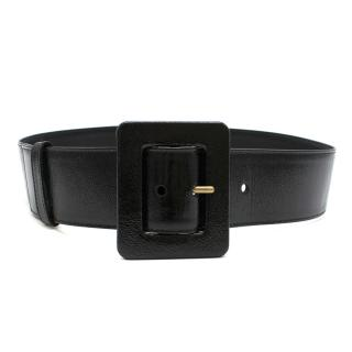Yves Saint Laurent Patent Leather Wide Belt