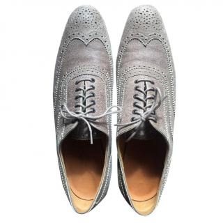 Hermes suede grey brogues