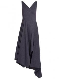 Osman Arya striped asymmetric dress