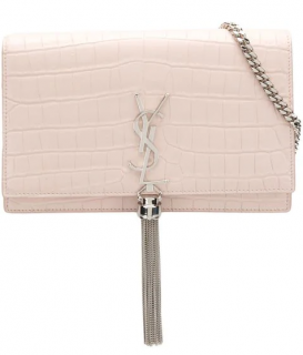 Saint Laurent Crocodile Embossed Kate Shoulder Bag
