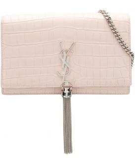 Saint Laurent Crocodile Embossed Kate Shoulder Bag