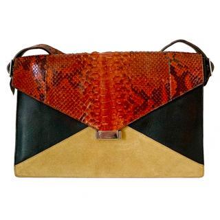 Celine Diamond Python Shoulder Bag
