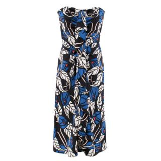 Temperley London Floral Print Strapless Dress