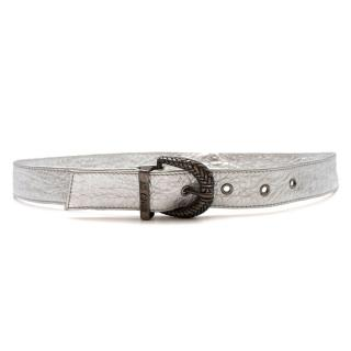 Just Cavalli Metallic Silver Belt