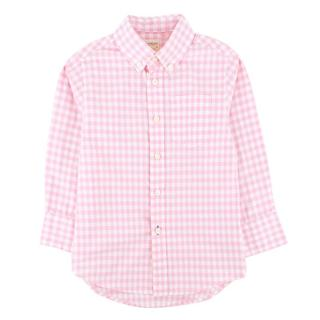 Crewcuts by J Crew Pink Gingham Button Down Long sleeve