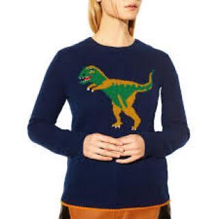 Coach 'Rexy' Dinosaur-Intarsia Cashmere Sweater