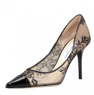 Jimmy Choo Alias Lace Pointed-Toe Pump