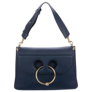 J.W. Anderson Medium Pierce Navy Leather Bag