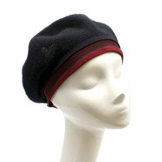 Vivienne Westwood Black Wool Beret