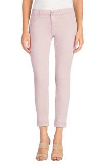 J Brand Anja Clean Cuffed Cropped Peach Whip Trousers