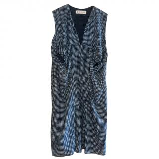 Marni Ruched Printed Dress