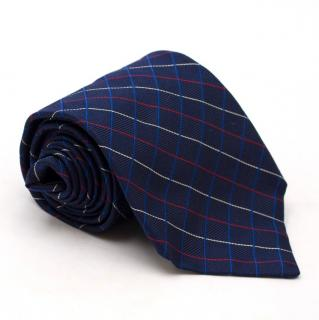 Fa�onnable Navy Checked Tie