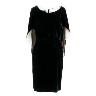 Escada Black Velvet Dress