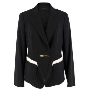 Escada Black Paneled Blazer