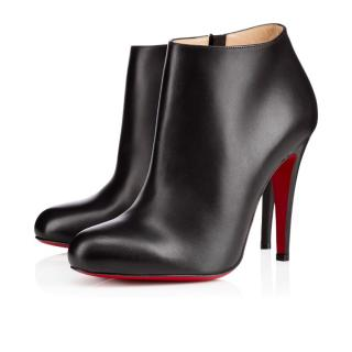 Christian Louboutin Belle 100mm black leather ankle boots