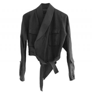 Haider Ackermann Grey Linen Safari Jacket