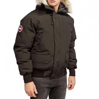 Canada Goose fur-trimmed black bomber jacket