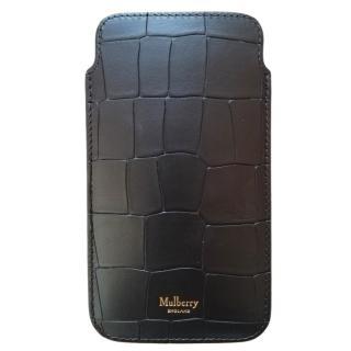 Mulberry Croc Embossed I-phone Cover