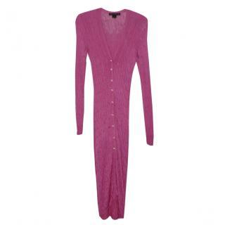 Ralph Lauren Pink Knit Maxi Cardigan