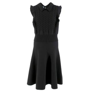 Prada Black Wool-blend Knit Dress