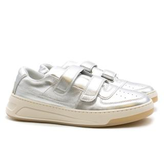Acne Studios Steffey Metallic Silver Sneakers