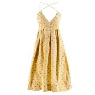 Victoria Victoria Beckham Pale Yellow Fils Coupe Dress