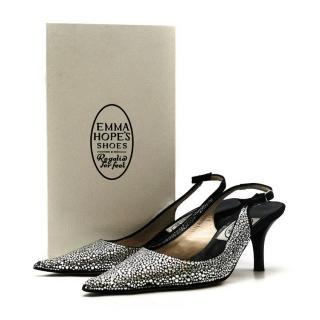 Emma Hope Stingray Strass High Slingback Shoes