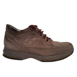 Hogan suede shoes