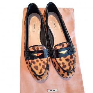 Miu Miu leopard-print loafers